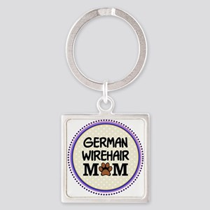 German Wirehair Dog Mom Keychains