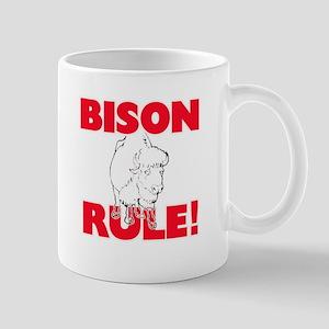 Bison Rule! Mugs