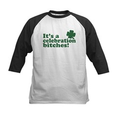 It's a celebration bitches! Kids Baseball Jersey