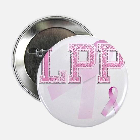 "LPP initials, Pink Ribbon, 2.25"" Button"