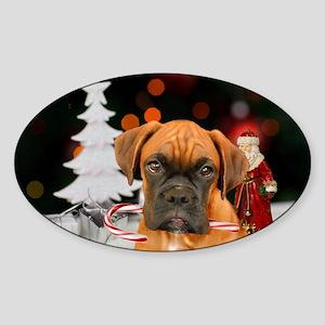 Christmas Boxer Dog Sticker