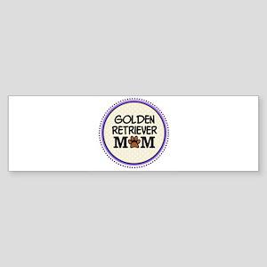 Golden Retriever Dog Mom Bumper Sticker