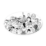 Rage face Oval Car Magnets