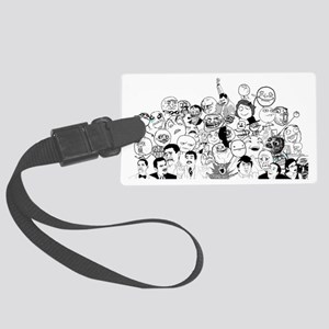 RAGE FACES Large Luggage Tag