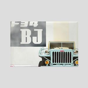 TEQ BJ faded Rectangle Magnet