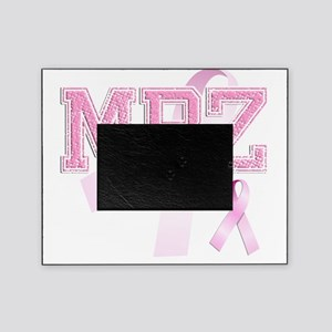 MBZ initials, Pink Ribbon, Picture Frame
