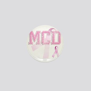MCD initials, Pink Ribbon, Mini Button