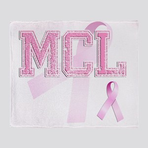 MCL initials, Pink Ribbon, Throw Blanket