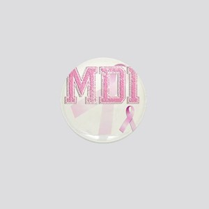 MDI initials, Pink Ribbon, Mini Button