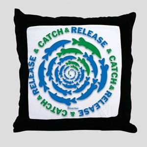 Catch and Release Pike Throw Pillow