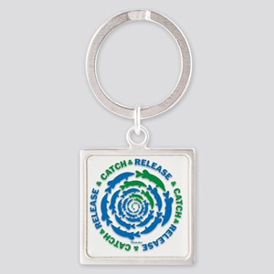 Catch and Release Pike Square Keychain