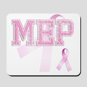 MEP initials, Pink Ribbon, Mousepad