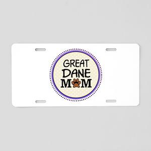 Great Dane Dog Mom Aluminum License Plate