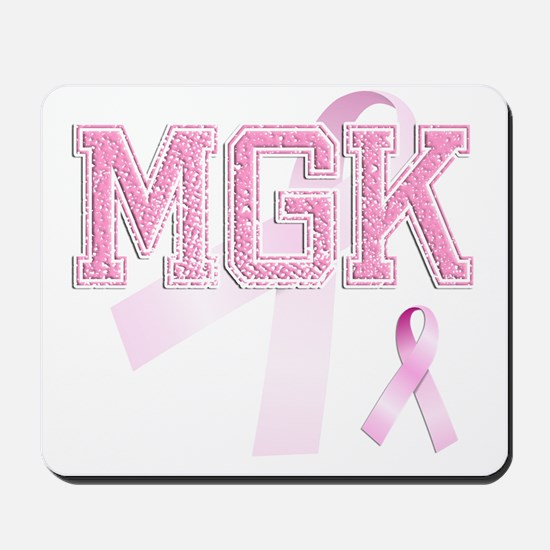 MGK initials, Pink Ribbon, Mousepad