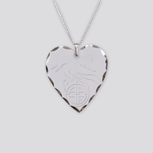 AANA_pheonix_wht Necklace Heart Charm