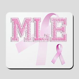 MLE initials, Pink Ribbon, Mousepad
