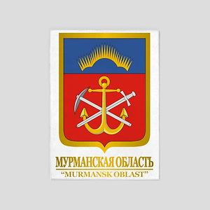 Murmansk Oblast COA 5'x7'Area Rug