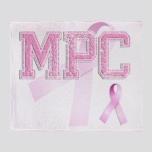 MPC initials, Pink Ribbon, Throw Blanket