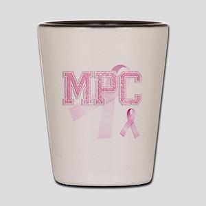 MPC initials, Pink Ribbon, Shot Glass