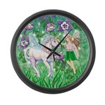 Fairy Unicorn Large Wall Clock