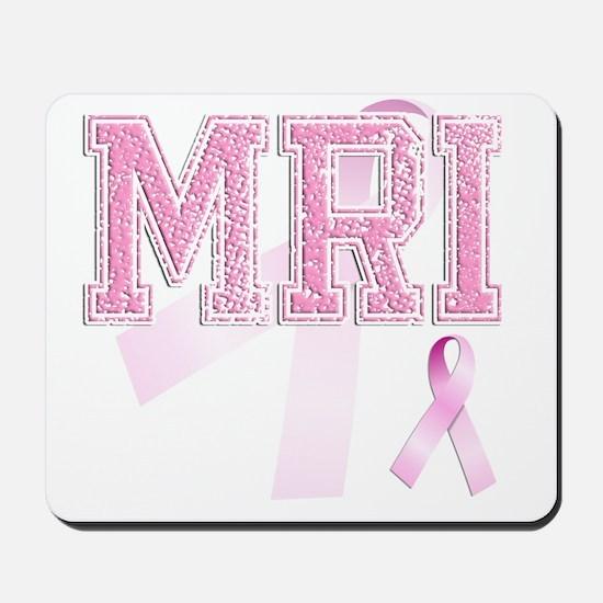 MRI initials, Pink Ribbon, Mousepad