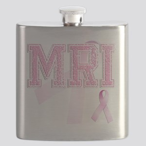 MRI initials, Pink Ribbon, Flask