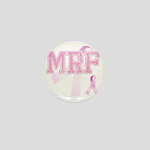 MRF initials, Pink Ribbon, Mini Button