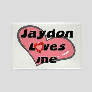jaydon loves me Rectangle Magnet