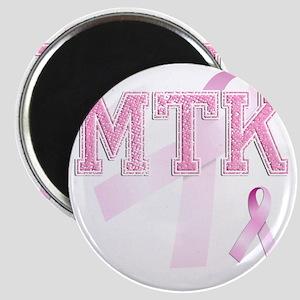 MTK initials, Pink Ribbon, Magnet