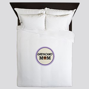 Greyhound Dog Mom Queen Duvet