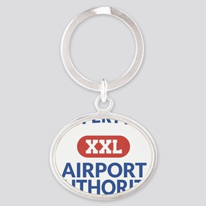 Property of Airport Authority Oval Keychain