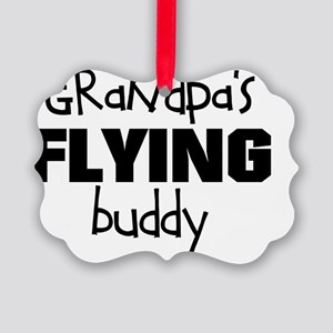 Grandpas Flying Buddy Picture Ornament