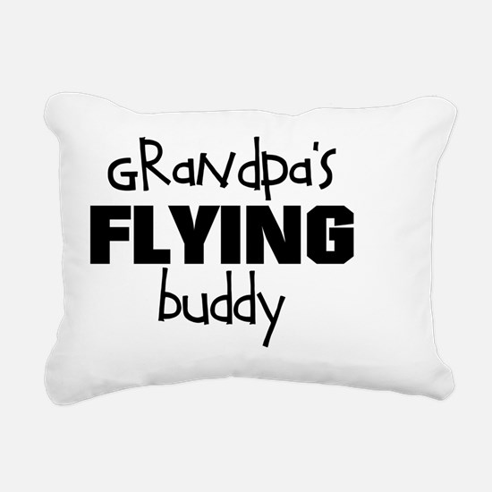 Grandpas Flying Buddy Rectangular Canvas Pillow