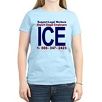 Report Illegal Employers to ICE Women's Light T-Sh