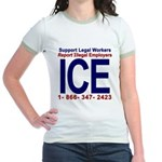 Report Illegal Employers to ICE Jr. Ringer T-Shirt