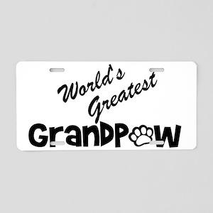 Grandpaw Aluminum License Plate