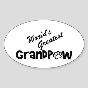 Grandpaw Sticker (Oval)