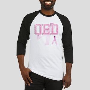 QED initials, Pink Ribbon, Baseball Jersey