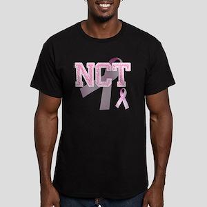 NCT initials, Pink Rib Men's Fitted T-Shirt (dark)