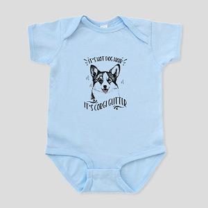 It's Not Dog Hair Corgi Glitte Baby Light Bodysuit
