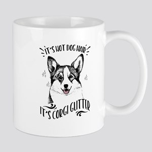 It's Not Dog Hair Corgi Glitter 11 oz Ceramic Mug