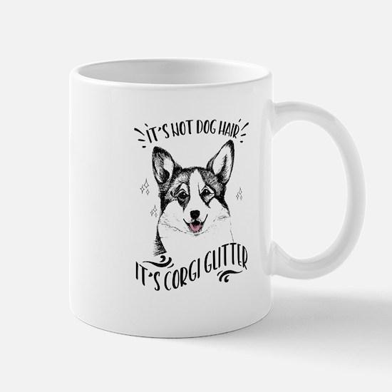 It's Not Dog Hair Corgi Glitter Mug