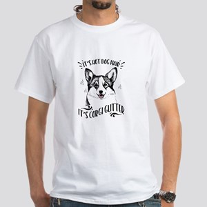 It's Not Dog Hair Corgi Glitter White T-Shirt