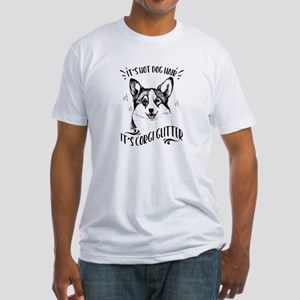 It's Not Dog Hair Corgi Glitter Fitted T-Shirt