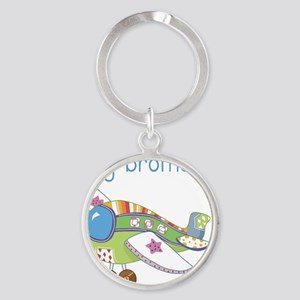 Airplane Big Brother Round Keychain