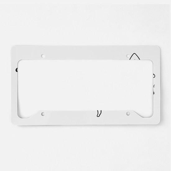 EBB - black and white License Plate Holder