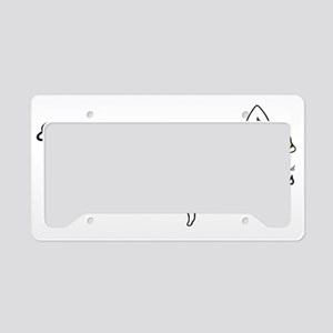 EBB - blonde hair License Plate Holder