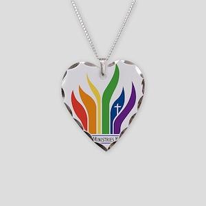 RMN Logo Necklace Heart Charm