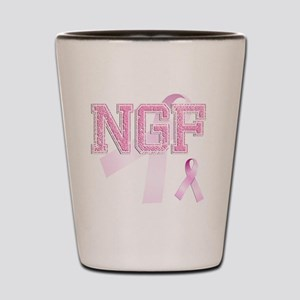 NGF initials, Pink Ribbon, Shot Glass