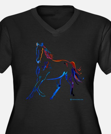 Horse of Many Colors Plus Size T-Shirt